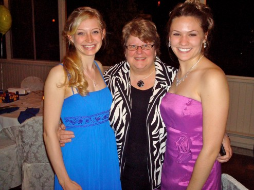 Katie and Bethany with Conservatory admissions counselor Debbie Rodgers